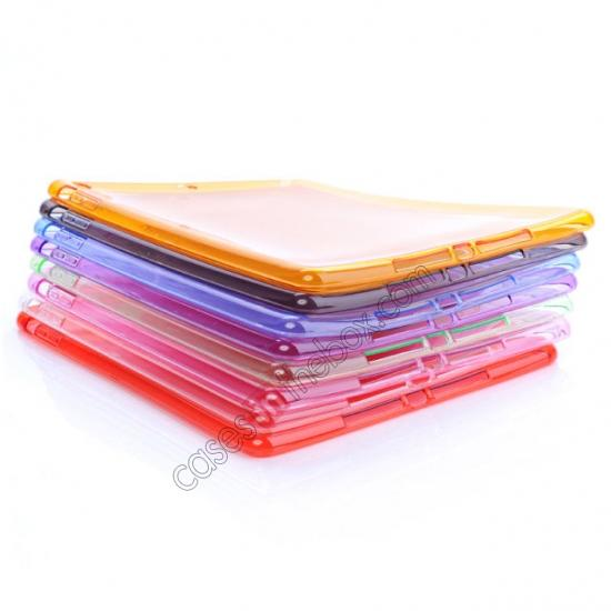 low price High Quality Clear Transparent TPU Soft Case Cover for Apple iPad Air 5 - Pink