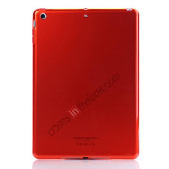 wholesale High Quality Clear Transparent TPU Soft Case Cover for Apple iPad Air 5 - Red