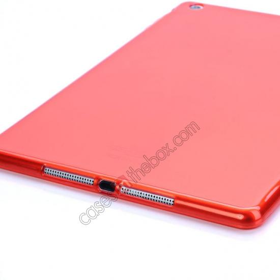 discount High Quality Clear Transparent TPU Soft Case Cover for Apple iPad Air 5 - Red