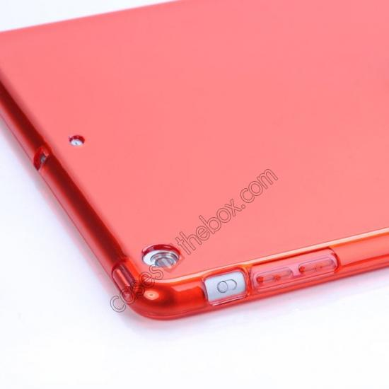 cheap High Quality Clear Transparent TPU Soft Case Cover for Apple iPad Air 5 - Red