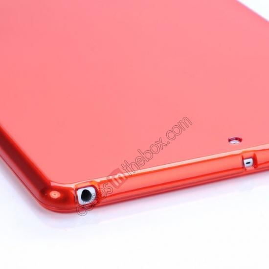 top quality High Quality Clear Transparent TPU Soft Case Cover for Apple iPad Air 5 - Red