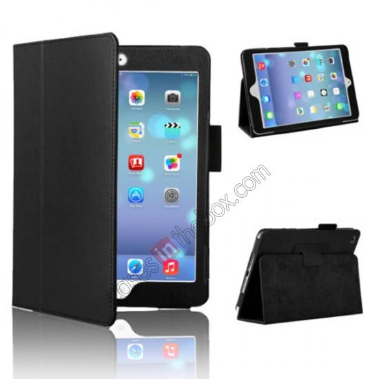 for ipad mini 2 retina smart leather case,wholesale Magnetic PU Leather Smart Cover Case for iPad mini Retina 2 - Black