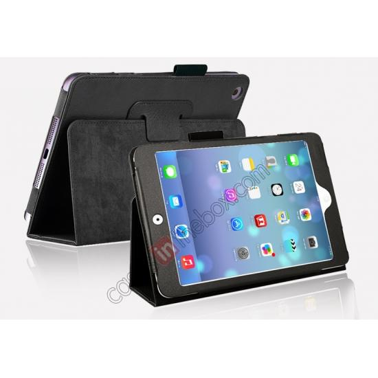 for vintage top quality ipad mini retina case,cheap Magnetic PU Leather Smart Cover Case for iPad mini Retina 2 - Black