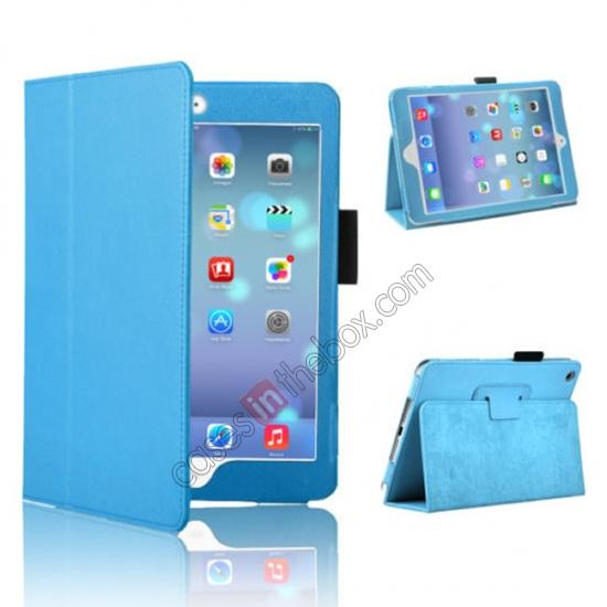 for ipad mini /retina cartoon case for tablet,wholesale Magnetic PU Leather Smart Cover Case for iPad mini Retina 2 - Blue