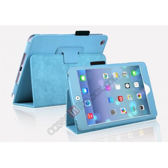 for mini retina ipad aluminum case,cheap Magnetic PU Leather Smart Cover Case for iPad mini Retina 2 - Blue