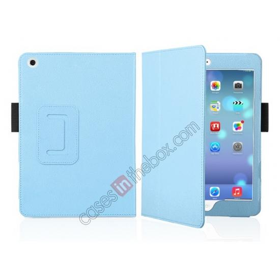 ultra slim case cover for new ipad mini retina,discount Magnetic PU Leather Smart Cover Case for iPad mini Retina 2 - Blue