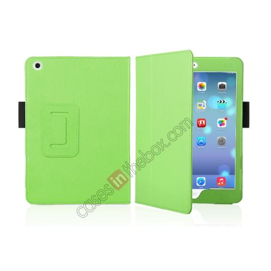 shining leather case for ipad mini 2 with retina,discount Magnetic PU Leather Smart Cover Case for iPad mini Retina 2 - Green