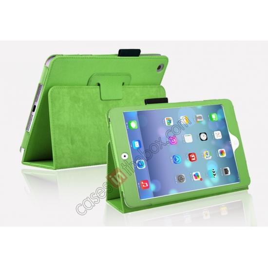 hot sell newest case for ipad mini retina,cheap Magnetic PU Leather Smart Cover Case for iPad mini Retina 2 - Green