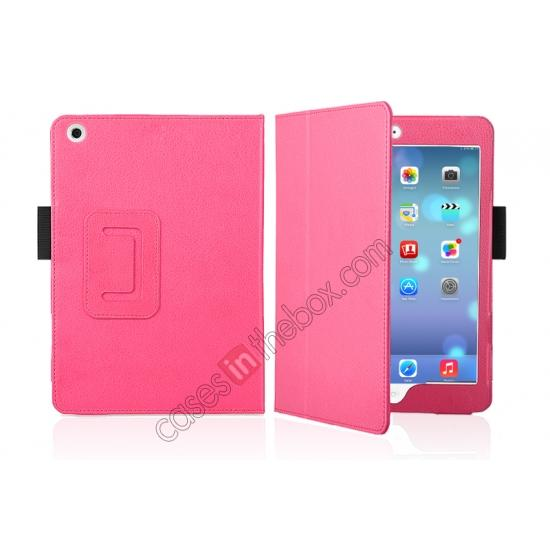 leather case for ipad mini retina,discount Magnetic PU Leather Smart Cover Case for iPad mini Retina 2 - Hot Pink