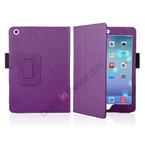 standing flip for ipad mini retina leather case,discount Magnetic PU Leather Smart Cover Case for iPad mini Retina 2 - Purple
