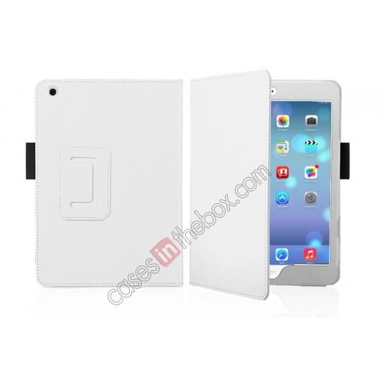 color red new protective case for ipad mini retina 2,discount Magnetic PU Leather Smart Cover Case for iPad mini Retina 2 - White