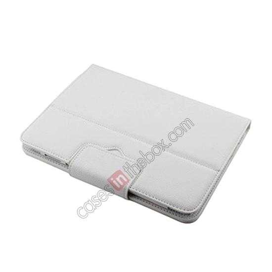 best price Bluetooth Keyboard Leather Case For Samsung Galaxy Note 10.1 2014 Edition P600 - White