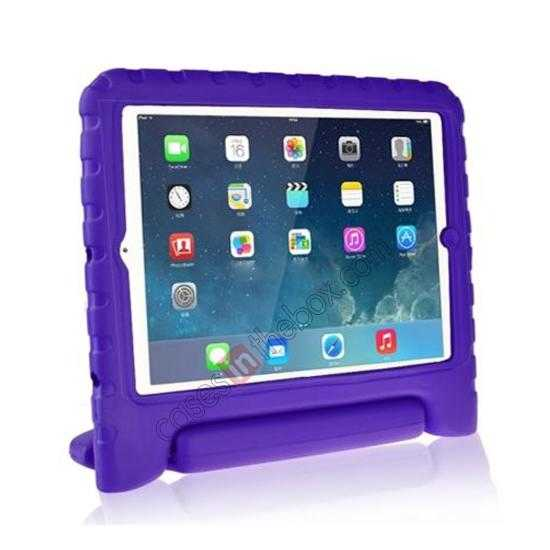 wholesale Kids Children Protective EVA Foam Cover Shockproof Case Stand for iPad Air - Purple