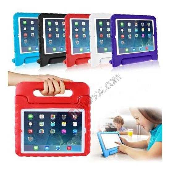 top quality Kids Children Protective EVA Foam Cover Shockproof Case Stand for iPad Air - Purple