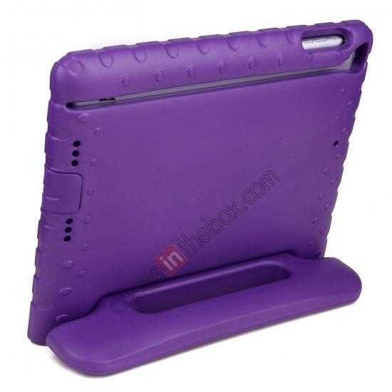 discount Kids Children Protective EVA Foam Cover Shockproof Case Stand for iPad Air - Purple