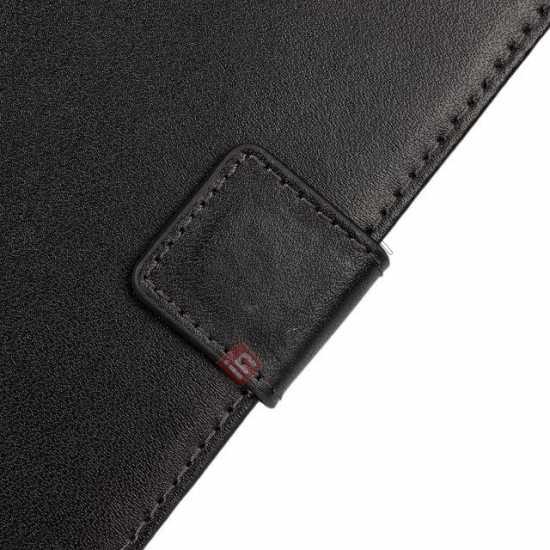 best price 100% Genuine Leather Wallet Case Card Holder Flip Cover For Samsung Galaxy S5 - Black