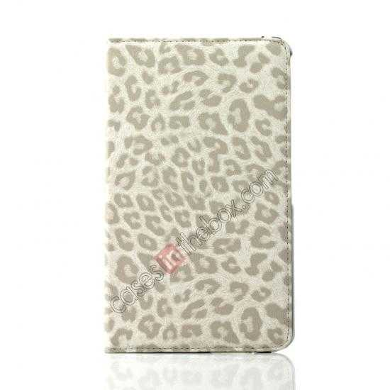 on sale 360 Rotary Leopard Skin Pattern Leather Case For Samsung Galaxy Tab Pro 8.4 T320 - White