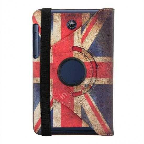wholesale 360º Rotate UK Flag Leather Case Cover For ASUS Memo Pad HD 7 ME173X