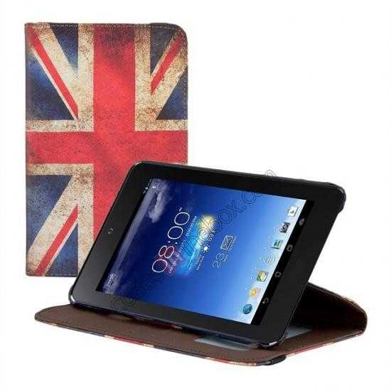 discount 360º Rotate UK Flag Leather Case Cover For ASUS Memo Pad HD 7 ME173X