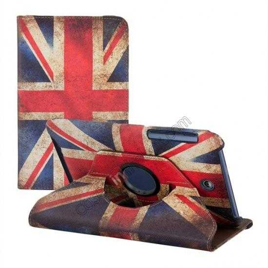 cheap 360º Rotate UK Flag Leather Case Cover For ASUS Memo Pad HD 7 ME173X