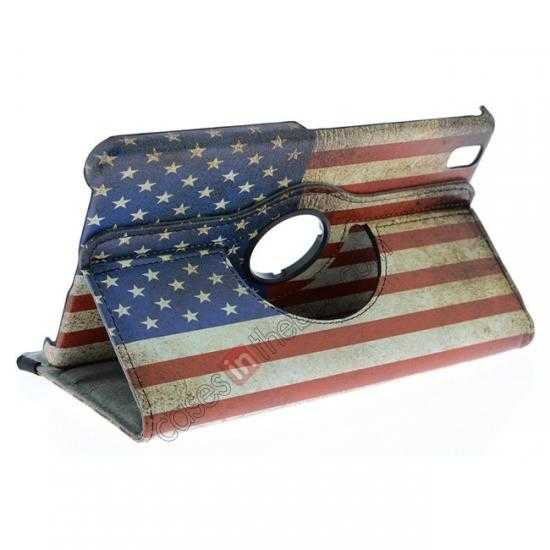 top quality 360º Rotate US Flag Leather Case Cover For Samsung Galaxy Tab Pro 8.4 T320