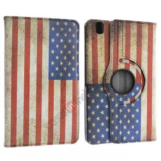 discount 360º Rotate US Flag Leather Case Cover For Samsung Galaxy Tab Pro 8.4 T320