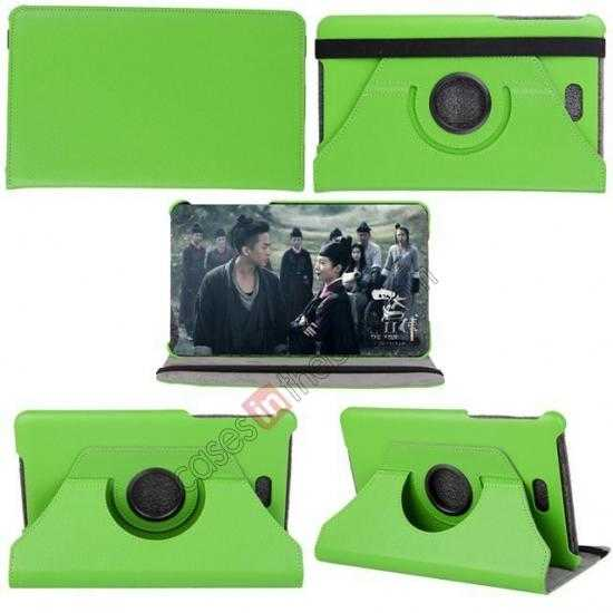 cheap 360 Rotating Leather Portfolio Case Cover For Dell Venue 8 Pro Windows 8.1