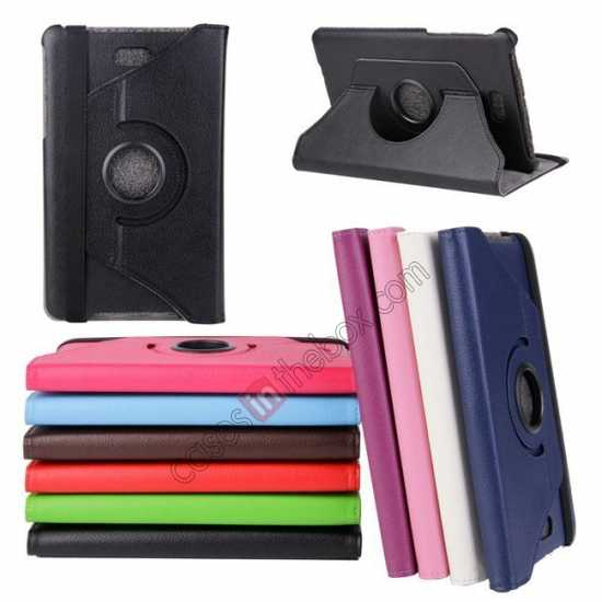 wholesale 360 Rotating Leather Portfolio Case Cover For Dell Venue 8 Pro Windows 8.1