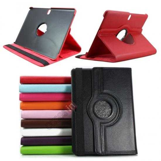 wholesale 360 Rotating Leather Portfolio Case Cover For Samsung Galaxy Tab Pro 10.1 T520