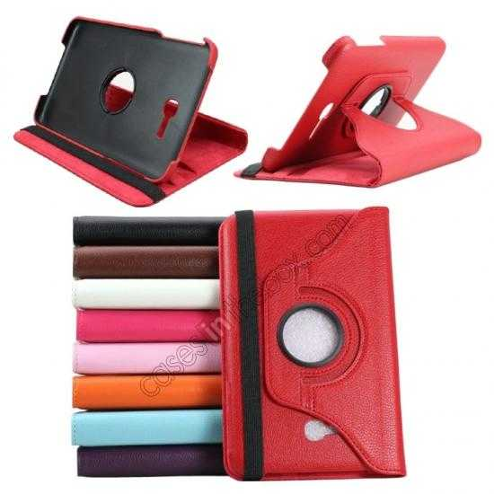 wholesale 360 Rotating Leather Portfolio Case Cover For Samsung Galaxy Tab3 Lite7/T110