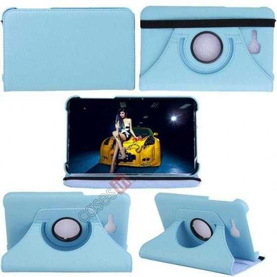 top quality 360 Rotating Leather Portfolio Case Cover For Samsung Galaxy Tab3 Lite7/T110