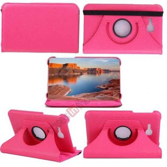 discount 360 Rotating Leather Portfolio Case Cover For Samsung Galaxy Tab3 Lite7/T110