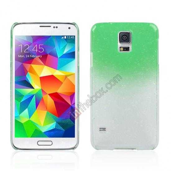 wholesale 3D Rain drop design hard case cover For Samsung Galaxy S5 - Green