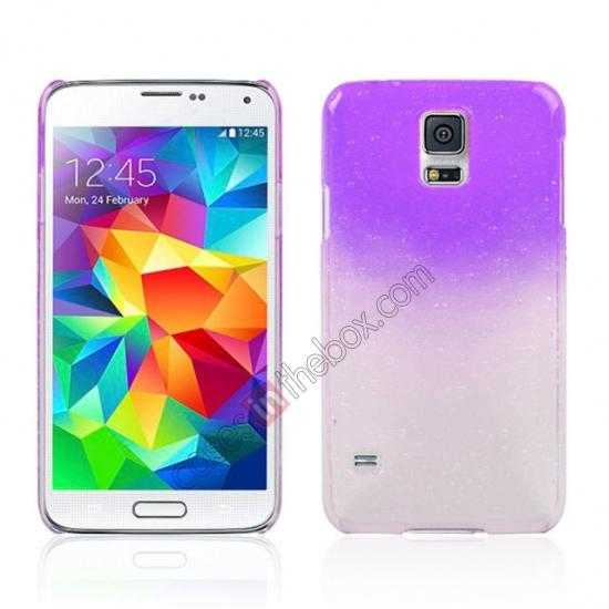 wholesale 3D Rain drop design hard case cover For Samsung Galaxy S5 - Purple