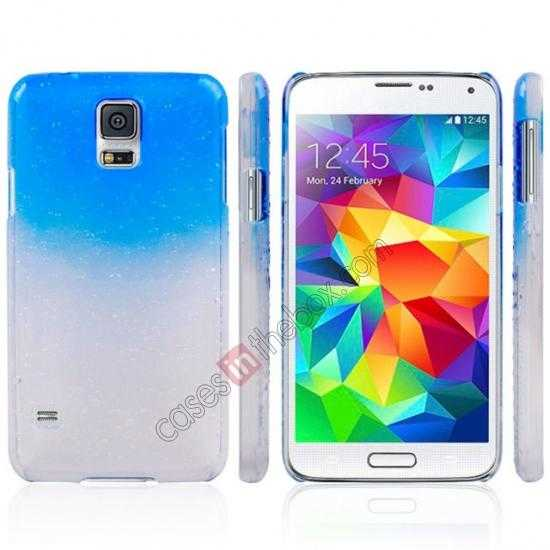 discount 3D Rain drop design hard case cover For Samsung Galaxy S5 - Sky blue