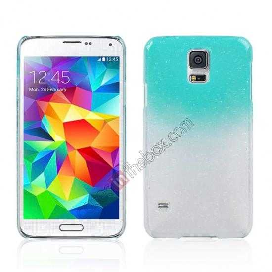 wholesale 3D Rain drop design hard case cover For Samsung Galaxy S5 - Sky blue