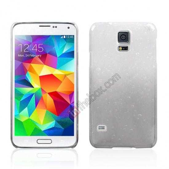 wholesale 3D Rain drop design hard case cover For Samsung Galaxy S5 - Grey