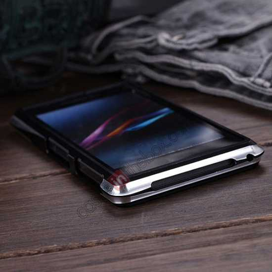 best price Aluminium Metal Bumper Frame Case For Sony Xperia Z1 Compact(M51W) - Black