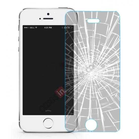 wholesale Baseus 2.5D 0.3mm Tempered Glass Screen Protector for iPhone 5S 5C 5 (Arc Edge)