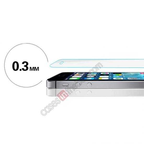 cheap Baseus 2.5D 0.3mm Tempered Glass Screen Protector for iPhone 5S 5C 5 (Arc Edge)