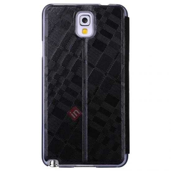 discount Baseus Brocade View Window Leather Stand Case for Samsung Galaxy Note 3 Neo - Black
