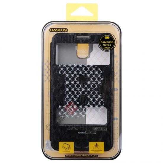 China leading wholesale Baseus Brocade View Window Leather Stand Case for Samsung Galaxy Note 3 Neo - Black