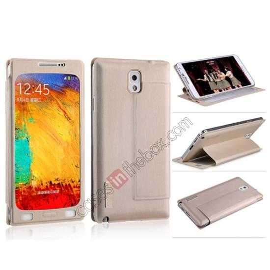 discount BASEUS Coloured Glaze Full View Leather Housing Case for Samsung Galaxy Note 3 N9000