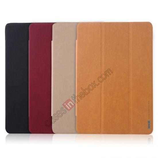 low price Baseus Grace Leather Stand Case for Samsung Galaxy Tab Pro 10.1 T520 - Wine Red