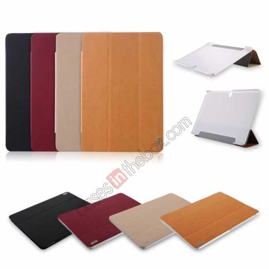 high quanlity Baseus Grace Leather Stand Case for Samsung Galaxy Tab Pro 10.1 T520 - Khaki