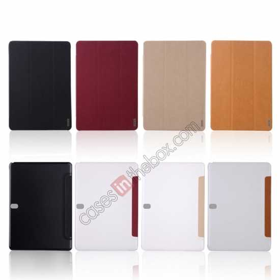 discount Baseus Grace Leather Stand Case for Samsung Galaxy Tab Pro 10.1 T520 - Wine Red