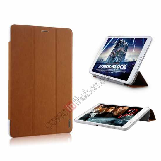 high quanlity Baseus Grace Leather Stand Case for Samsung Galaxy Tab Pro 8.4 T320 - Brown