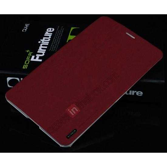 on sale Baseus Grace Leather Stand Case for Samsung Galaxy Tab Pro 8.4 T320 - Wine Red