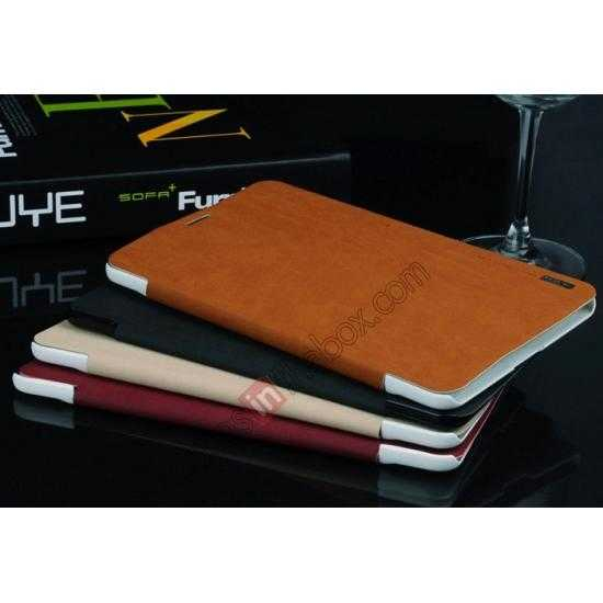 low price Baseus Grace Leather Stand Case for Samsung Galaxy Tab Pro 8.4 T320 - Wine Red