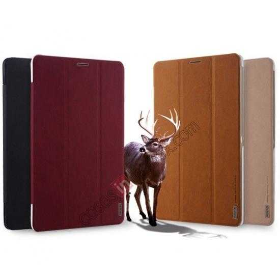 high quanlity Baseus Grace Leather Stand Case for Samsung Galaxy Tab Pro 8.4 T320 - Wine Red